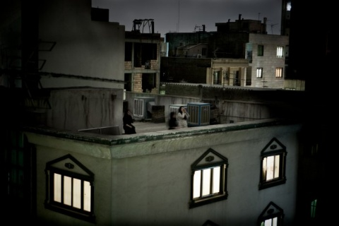 World Press Photo of the Year 2009, fot. Pietro Masturzo, Italy, From the rooftops of Tehran, June